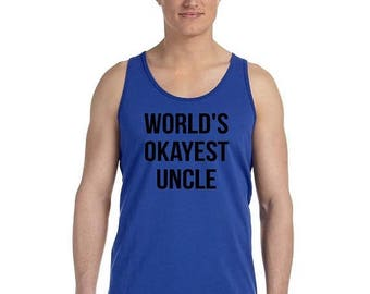 ON SALE - Worlds Okayest Uncle - Men's Tank Top