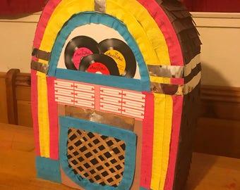 Jukebox pinata / music pinata / rock and roll pinata / adult pinata / 60's pinata