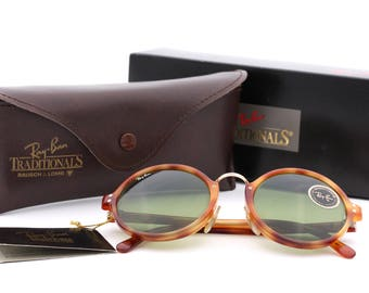 Ray Ban B&L Premier C W 0859 / vintage round oversize sunglasses with tortoise frame and RB-3 lenses / 80's Ray Ban