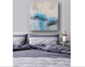 Large Canvas Art Abstract Seascape Painting Large Abstract Abstract Beach Painting Large Painting Wall Art