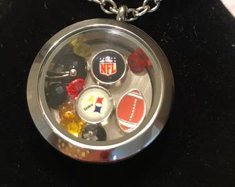 Pittsburg Steelers Floating Charm Necklace