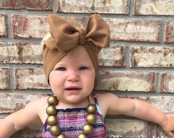 CARAMEL Headwrap, Newborn Headwrap, Fabric Headwraps, brown Headwrap, Toddler Headwrap,  baby headwrap, baby headband, headwraps