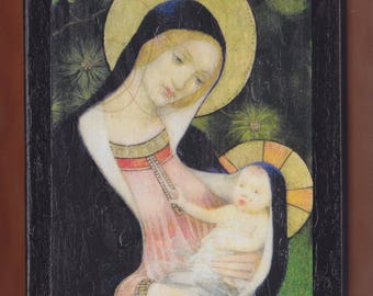 Marianne Stokes Madonna of the Fir Tree 1925.FREE SHIPPING