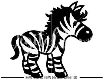 Zebra svg / dxf / eps / png files. Digital download. Compatible with Cricut and Silhouette machines. Small commercial use ok