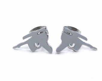 Star Wars Han Solo Blaster Stainless Steel Stud Earrings