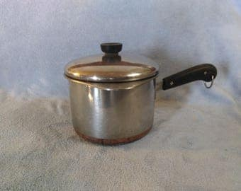 Revere Ware 1801 Stainless Steel Pot Copper Clad with Double Boiler - Insert