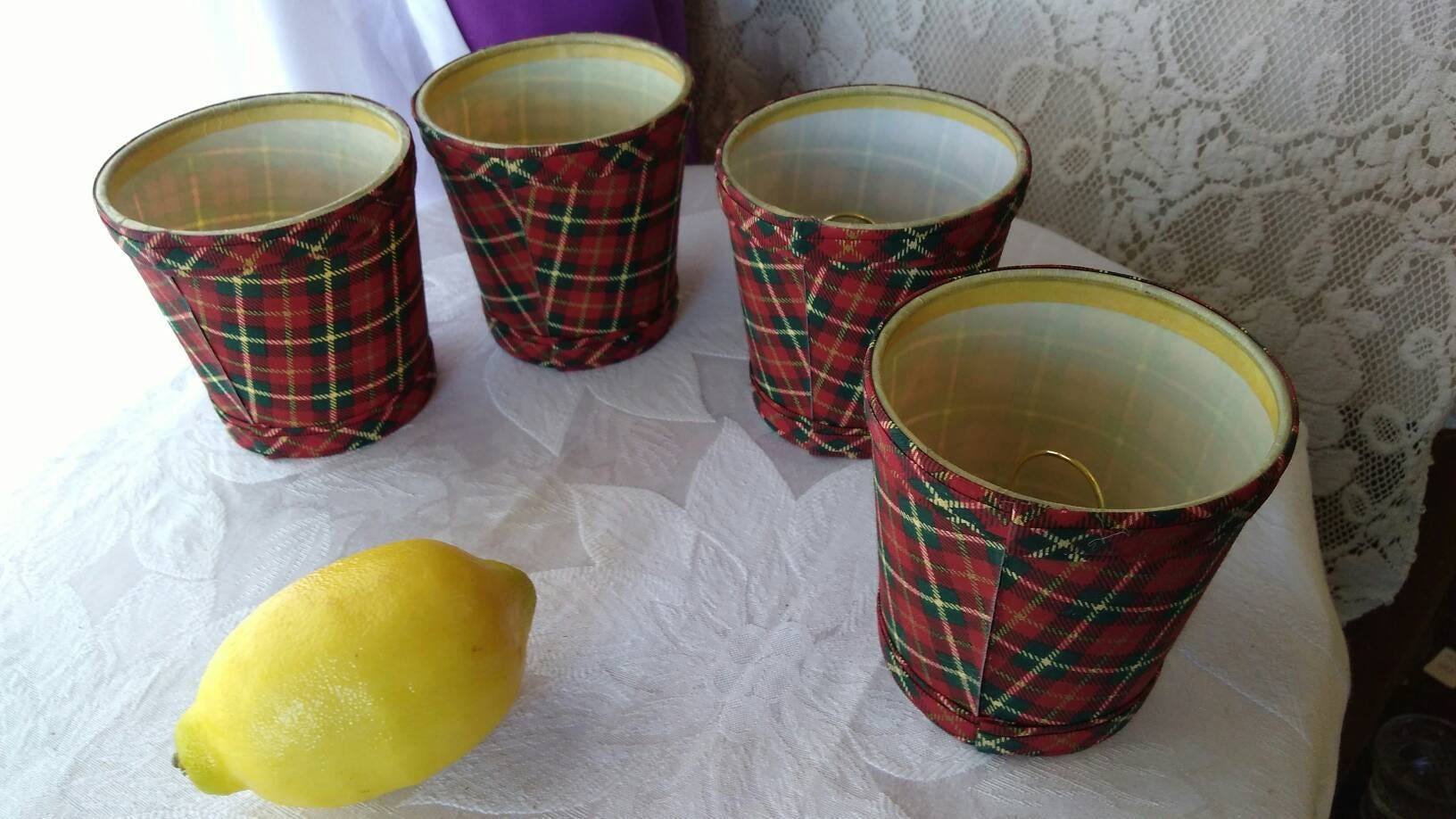 Set of 4 matching plaid tartan chandelier shades red black green gallery photo gallery photo gallery photo gallery photo arubaitofo Gallery