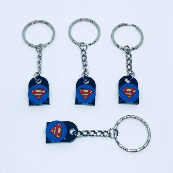 Superman Inspired Lego Keyring