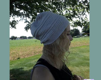 Beige Slouch Beanie, Crochet Slouchy Hat, Crochet Beanie,  Beanie Merino, Mikaela Slouch, Stone