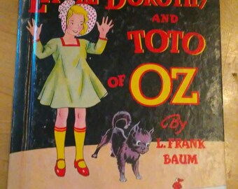 1939 Little Dorothy and Toto of Oz book
