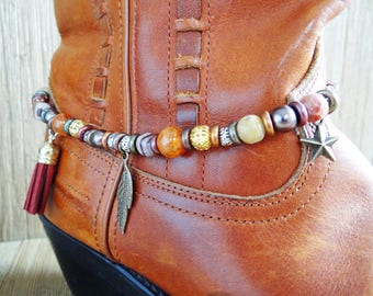 Gemstone boot bracelet, Boot bracelet, Gemstone boot jewelry, Boot jewelry, Boot jewellery, Gemstone boot anklet, Boot bling, Boot accessory