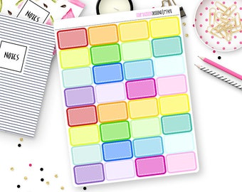 Custom Color Dot Half Box Stickers for Erin Condren Life Planner, Plum Paper or Mambi Happy Planners