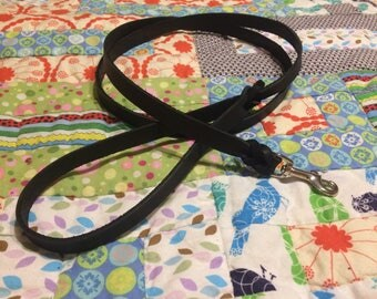 Leather Normal leash- latigo leather leash with zinc or brass snap hook, braided leather leash, black or brown leather leash