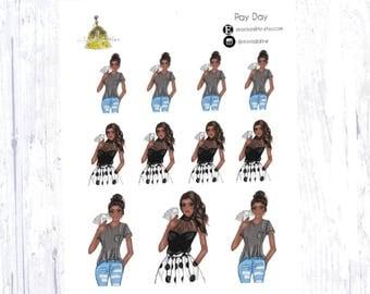 Pay Day Sticker Set