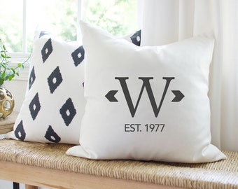 20th Wedding Anniversary Gift PILLOW COVER | Personalized Pillow | Wedding Gift for Couples | 40th Parents Anniversary Gift | Canvas Pillow