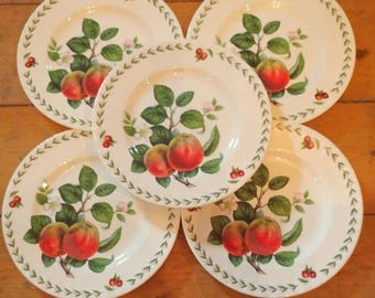 5 Roy Kirkham Redoute Fruit China Plates Apples