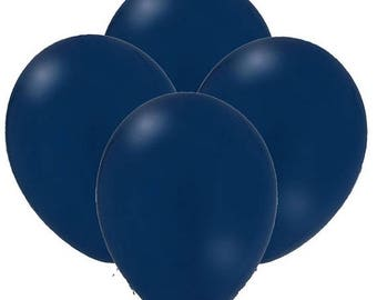 """ON SALE 25 Top Quility Navy Blue Satin Balloons 11"""" Latex  Balloons, Wedding Shower Balloons, party decor qualatex"""