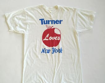 Vintage 1970sTurner Love New York 50/50 white t-shirt
