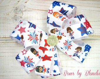 Large Fourth of July Double Layered bow!