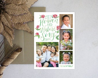 PRINTABLE Holiday Cards | Let Heaven & Nature Sing