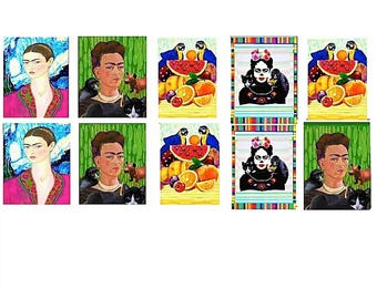 Frida Kahlo Artist Stickers,Colorful,MacBook Decal,Laptop Stickers,Wall Sticker,Laptop Decal,Art Sticker,ACEO and Planner Sizes