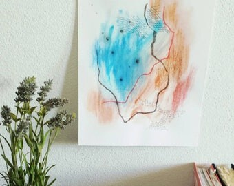 Watercolor paint, pastel watercolor, abstract watercolor,  fun watercolor, original watercolor, abstract art, modern watercolor,colorful art