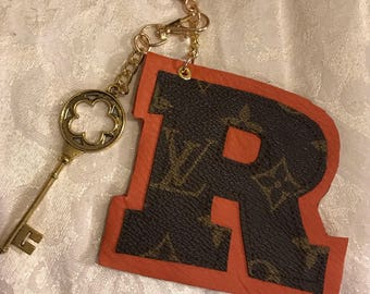 Monogram Large Initial Bag Charm-upcycled Louis Vuitton