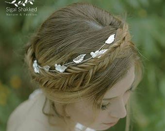 Silver Wedding Crown Wedding Headpiece Silver Bridal Tiara Bridal Headpiece Silver Tiara Hair accessories  Wedding Hair Wedding Headband