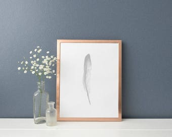Watercolour Feather Scandinavian Print