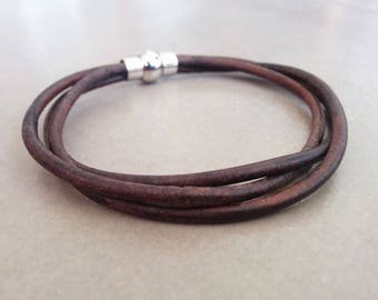 Men Leather Bracelet, Mens Bracelet, Leather Bracelet, Mens Jewelry, Brown Leather Bracelet, Gift For Him, Boyfriend Gift, Bracelets For Men