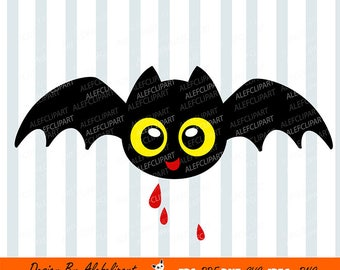 Bat Halloween SVG, Bat Svg, Halloween Svg, Cute Bat Clipart, Cricut, Silhouette Cut Files