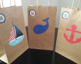 Nautical gift bags