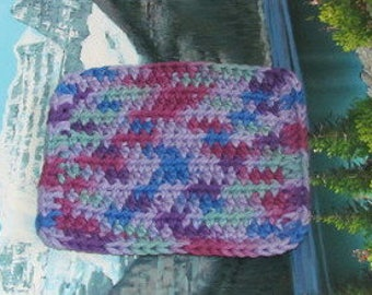 Hand crochet cotton dish cloth 6 by 6 cdc 096