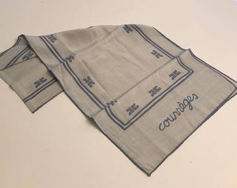 Courreges Paris silk scarf vintage iconic Courreges vintage silk scarf