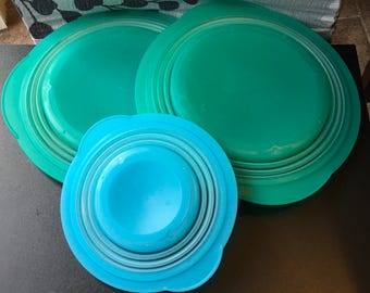 Tupperware  Flat Out Collapsible Expandable Space Saver Bowl  5452   3 Cups 700 ml  5570 And 2 L 8 1/4 cups Lunch Brown Bag