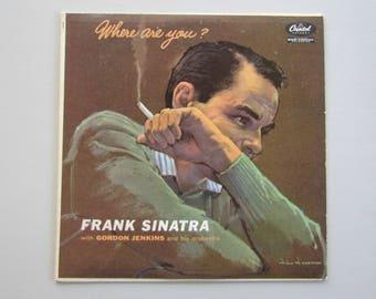Frank Sinatra, Where Are You? Vinyl LP Album, Capitol Records, 50s Jazz Easy Listening