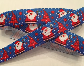 Christmas Santa Grosgrain Ribbon 7/8""