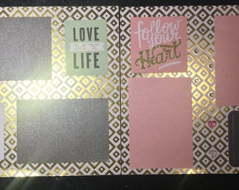 Follow Your Heart Scrapbook Set (2 pages)