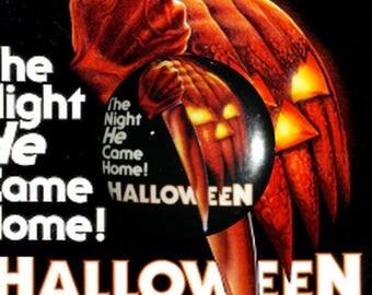 "H019 Halloween 1"" Pinback Button Pin Cult Classic Horror Cinema Film Movie John Carpenter Michael Myers Slasher"