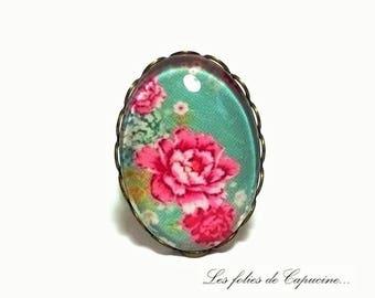 Ring Cabochon flower •ESPRIT •