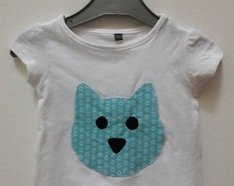 T-shirt girls size 6 months pattern cat