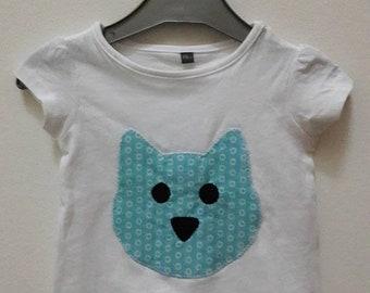 T-shirt girls size 6 months pattern cat