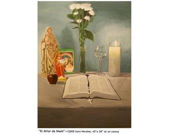 """Puerto Rican Art Poster _ """"El Altar de Mami"""""""