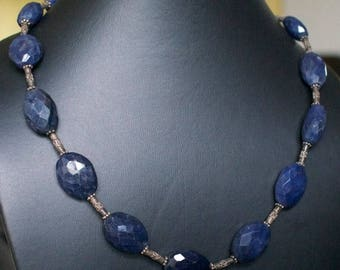 ON SALE Classic Chalcedony Silver Necklace