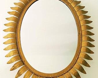 Mirror Sun Oval Vintage/Vintage Oval sunburst Mirror