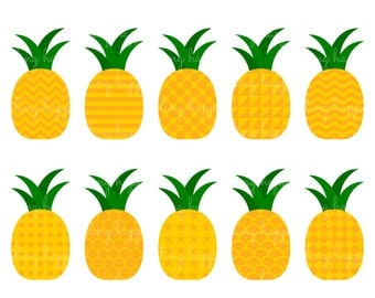 70% OFF Pattern Pineapple Cliparts, Pattern Pineapple Clipart Graphics, Personal & Small Commercial Use, Instant Download