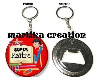 Keychain bottle opener / thank you teacher gift