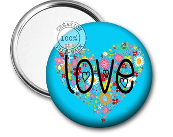 50 mm Pocket mirror love REF:1085