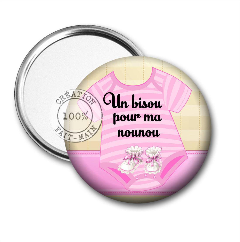 Miroir de poche 50 mm multicolore cadeau un bisou pour ma for Miroir 50 mm
