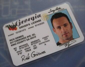 The Walking Dead Driver's License [ Rick ] ( T2 ) B3G1F